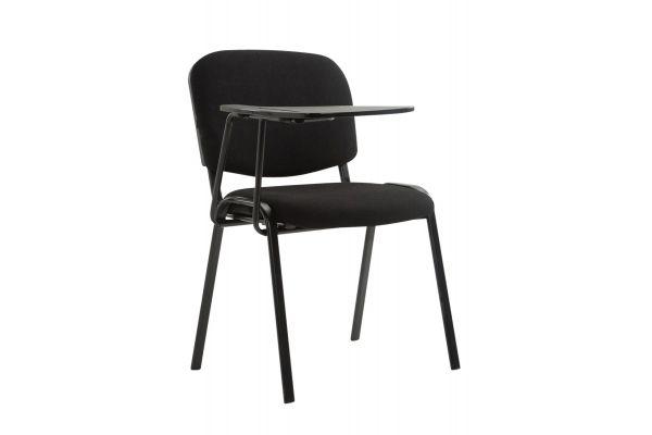 Stuhl Ken mit Klapptisch Stoff schwarz
